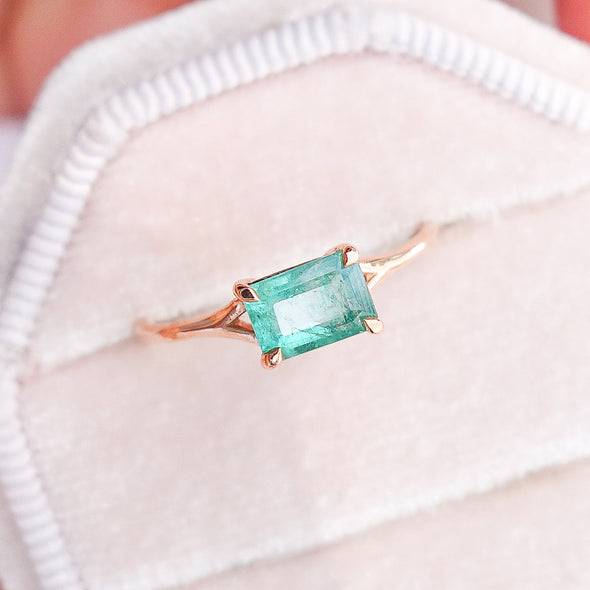 Emerald You Are Enough Ring in 14K Rose Gold EER3R09