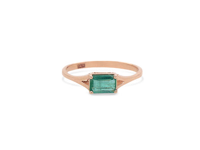 Emerald You Are Enough Ring