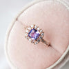 Halo Eternity Tanzanite Ring with Sapphires - HETR647R
