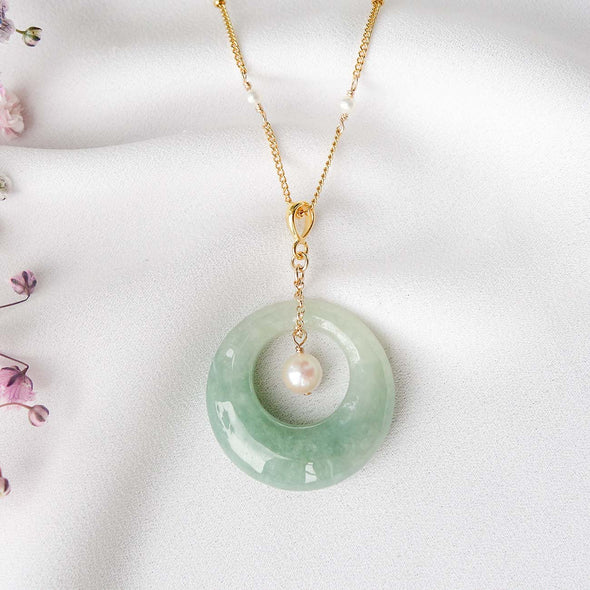 Moon Jade Necklace - JA2145