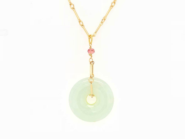 Jade Bar Necklace - 14K Gold Filled