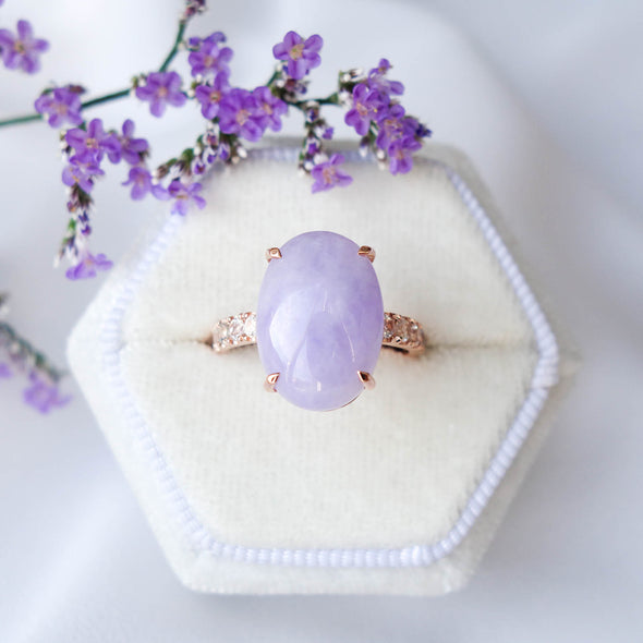 Lavender Jade Eternity Ring - LJER591R