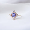 Northstar Tanzanite Ring with Sapphires - NTR641Y