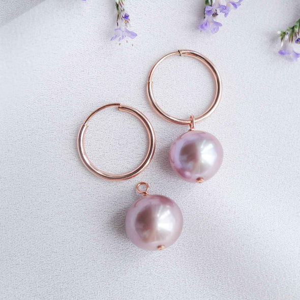 Custom Order for twinkleglint - Endless Hoop Earrings with Removable Petite Pearls OP13