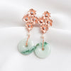 Unique Jade with Four Flower Ear Studs Ear Studs PJ7R