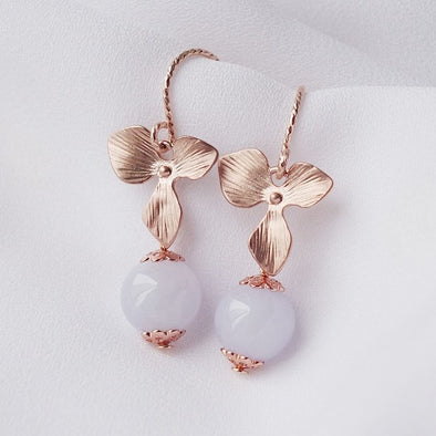 Lavender Jade Earrings #13