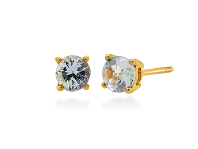 Tanzanite Ear Studs in 18K Yellow Gold RSES4Y3
