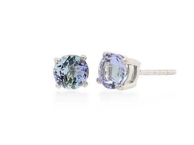Tanzanite Ear Studs in 18K White Gold RSES5W2