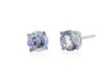 Tanzanite Ear Studs in 18K White Gold RSES5W3