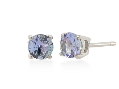 Tanzanite Ear Studs in 18K White Gold RSES5W5