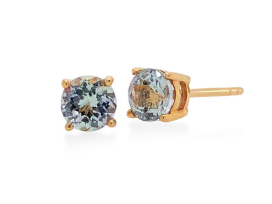 Tanzanite Ear Studs in 18K Rose Gold RSES6R0