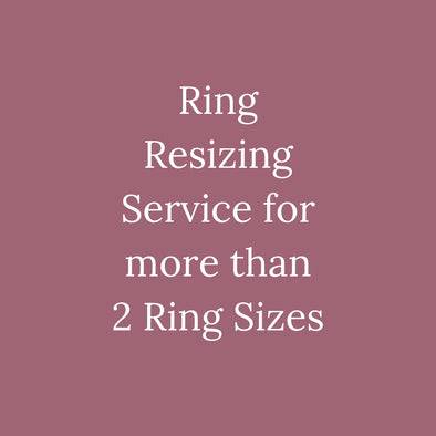 Ring Resizing Service For More Than 2 Ring Sizes