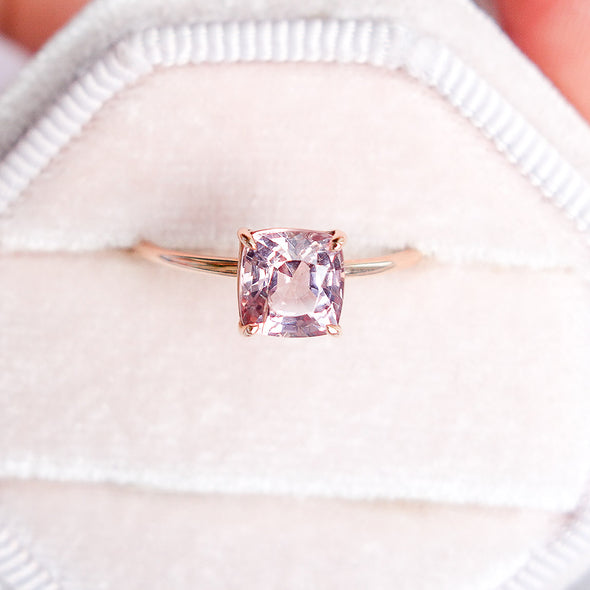 Spinel Solitaire Ring in 14K Rose Gold - SSR3R41