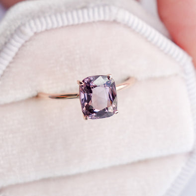 Spinel Solitaire Ring in 14K Rose Gold - SSR3R73