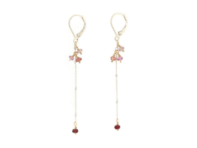 Sleek Spinel Swinging Earrings - Sterling Silver