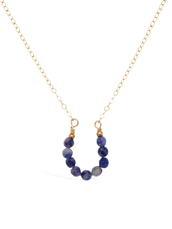 Lucky Horseshoe Necklace - Sodalite