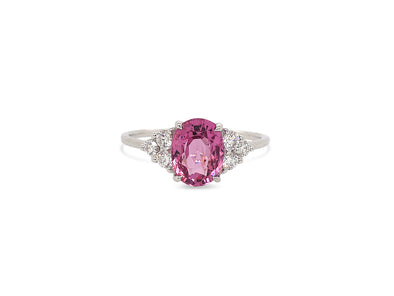 Spinel and Diamond By Your Side Ring