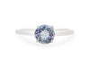 Tanzanite Solitaire Ring in 14K White Gold TSR0W2