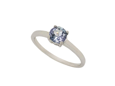 Tanzanite Solitaire Ring in 14K White Gold TSR0W5