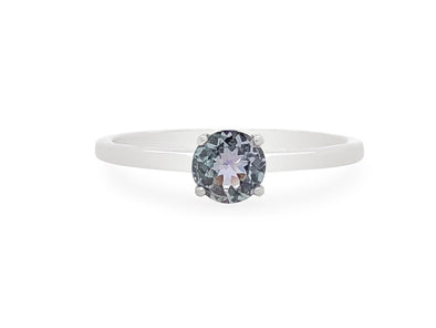 Tanzanite Solitaire Ring in 14K White Gold TSR1W0