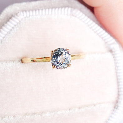 Tanzanite Solitaire Ring - 14K Yellow Gold TSR1Y3