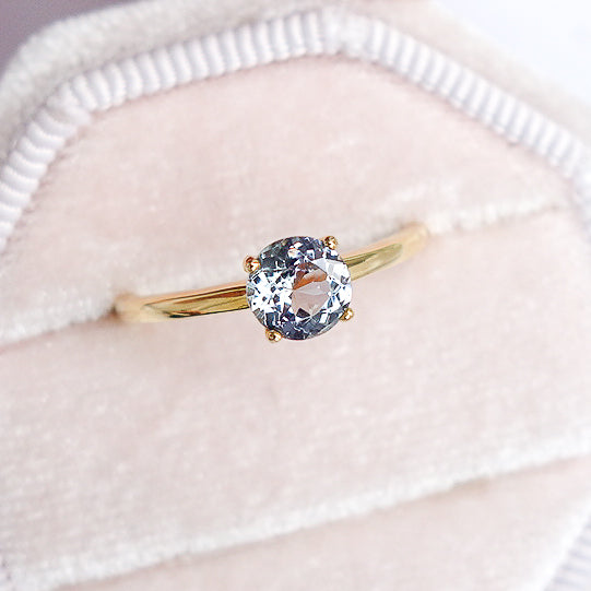 Tanzanite Solitaire Ring - 14K Yellow Gold TSR1Y6