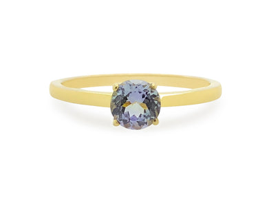 Tanzanite Solitaire Ring in 14K Yellow Gold TSR1Y8