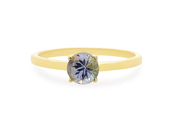 Tanzanite Solitaire Ring in 14K Yellow Gold TSR1Y9