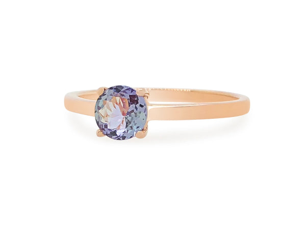 Tanzanite Solitaire Ring in 14K Rose Gold TSR2R7