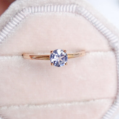 Tanzanite Solitaire Ring - 14K Rose Gold TSR2R9
