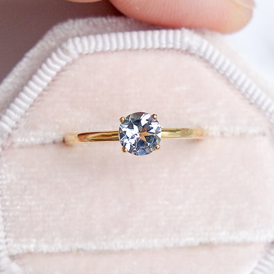 Tanzanite Solitaire Ring - 14K Yellow Gold TSR2Y0