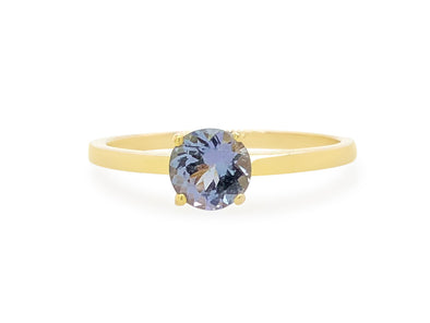 Tanzanite Solitaire Ring in 14K Gold
