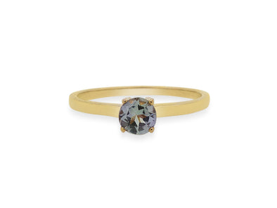 Tanzanite Solitaire Ring in 14K Yellow Gold TSR2Y2