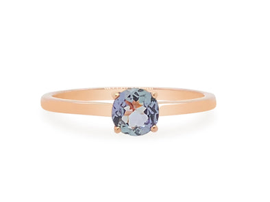 Tanzanite Solitaire Ring in 14K Rose Gold TSR3R0