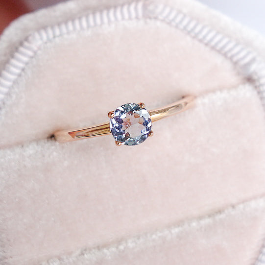 Tanzanite Solitaire Ring - 14K Rose Gold TSR3R0