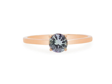 Tanzanite Solitaire Ring in 14K Rose Gold TSR3R1