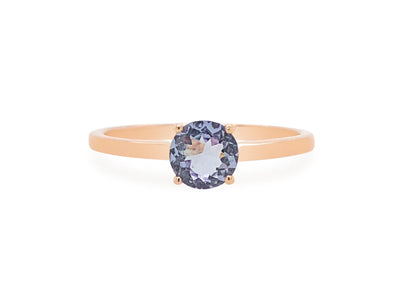 Tanzanite Solitaire Ring in 14K Rose Gold