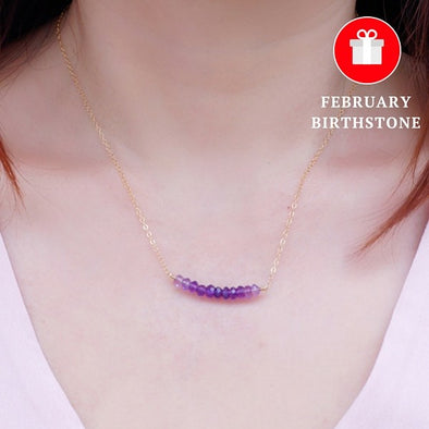 Dainty Ombre Sapphire Necklace