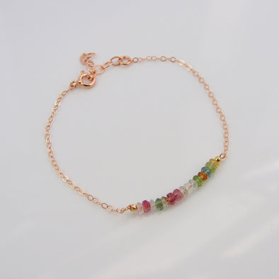 Tourmaline Gem Bar Bracelet