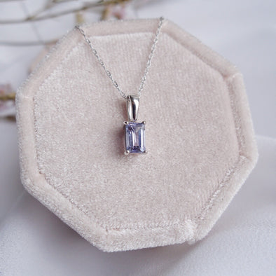 Rectangle Tanzanite Pendant PT6W6