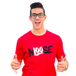 RED CLASSIC MOOSE 100 T-SHIRT