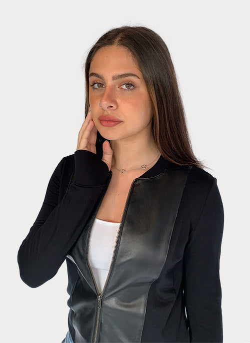 Leather Mix Jacket