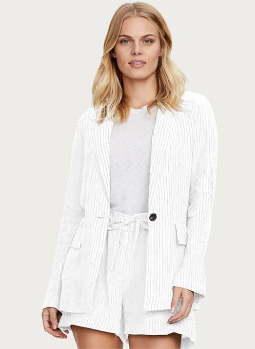 Lottie Striped Linen Blazer