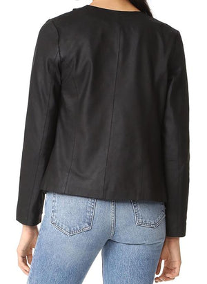 Deva Drape Leather Jacket