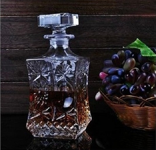 Stylish Premium Crystal Glass Wine Bottle Jug