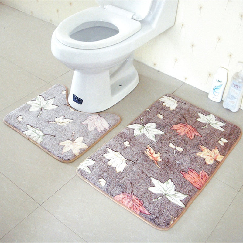 Stylish Cool Trendy Decorative Bathroom Mats 2PCE/SET