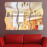 Stylish Cool Trendy 3D Mirror Wall Stickers 3PCE/SET