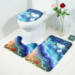 Stylish Colorful 3D Bathroom Mats 3PCE/SET