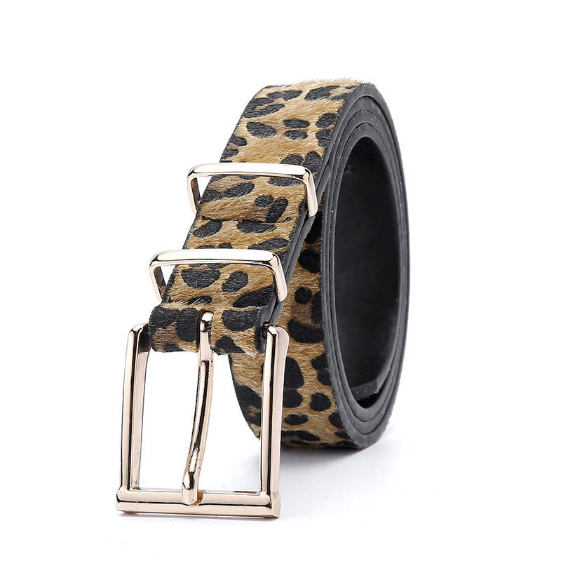 Women's Beautiful Stylish Leopard Pattern Buckle Belts