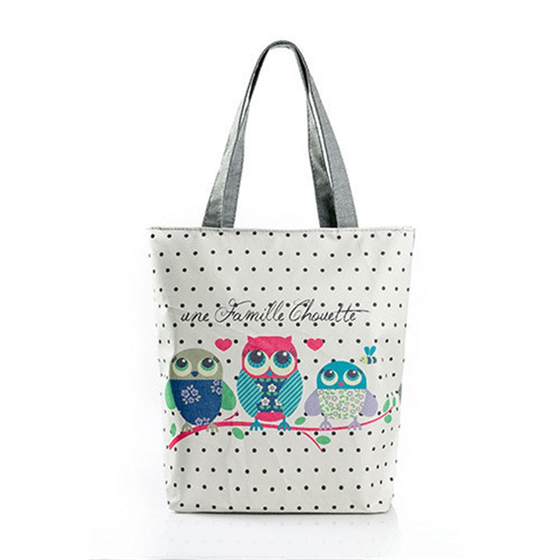 Women's Stylish Cool Trendy Owl Beach Bags